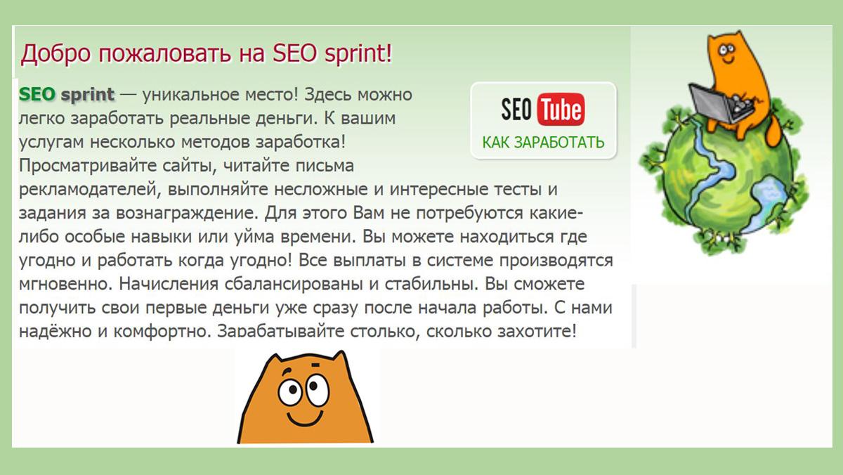 Программа Seo sprint