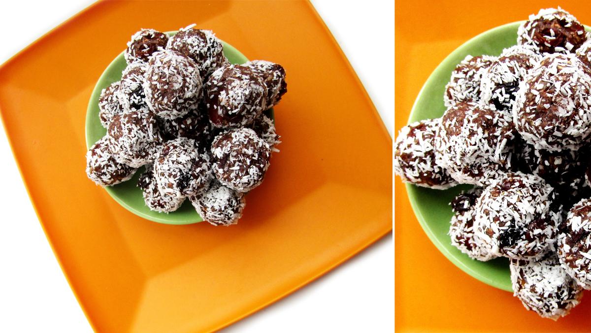 Домашние конфеты «Шоколадные шарики из какао в кокосовой стружке»