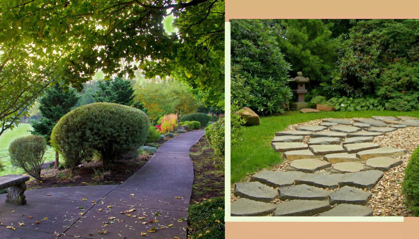 Дорожки на садовом участке. Выбор материала